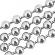 Stainless steel ball chain 2mm Silver