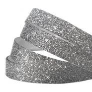 Tape 10 mm crystal glitter anthracite