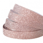 Tape 10 mm crystal glitter Vintage rose