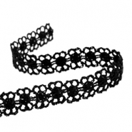 Ribbon with lace 12 mm Black