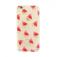 Telephonecase melon for Iphone 6 Plus Transparent - red green
