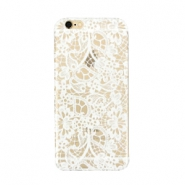 Telephonecase lace for Iphone 6 Plus Transparent - white