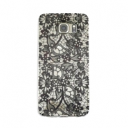 Telephonecase lace for Samsung Galaxy S6 Transparent - black