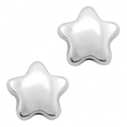 DQ metal beads star Antique silver (nickel free)