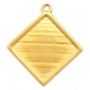 DQ metal square settings with one loop for 20mm cabochon Gold (nickel free)