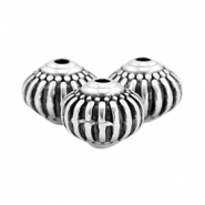 DQ metal beads deco 8x7mm Antique silver (nickel free)