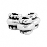 DQ metal beads deco 6x6mm Antique silver (nickel free)