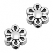 DQ metal beads flower 9mm Antique silver (nickel free)