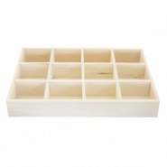 Wooden jewellery display 12 compartments Natural (natural wood colour)