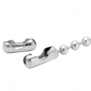 DQ ball chain clasp for 2mm chain DQ Antique silver durable plated