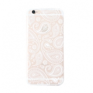 Trendy phone cases for Iphone 6 Plus paisley print Transparent-white