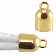DQ metal end cap with loop Gold (nickel free)