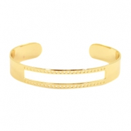 DQ metal findings basic bracelet (for macrame string) Gold (nickel free)