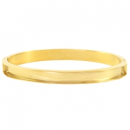 Stainless steel bracelets (for 5mm flat stringing material) Gold