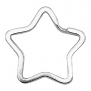 Keychains star 34mm Antique silver