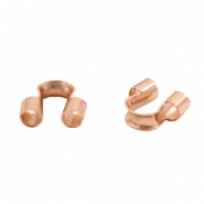 DQ metal findings wire guardian / wire protector 5mm (Ø1.5mm) Rose gold (nickel free)