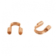 DQ metal findings wire guardian / wire protector 5mm (Ø0.56mm) Rose gold (nickel free)