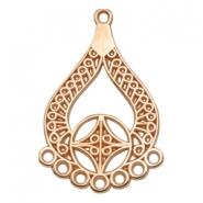 DQ metal charms drop with 8 loops Rose Gold (nickel free)