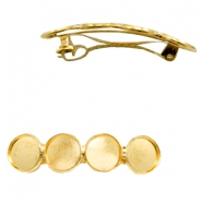 Settings hairpin metal for 4 cabochons 12 mm Gold