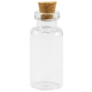 Wish bottle with cork 35x16mm Transparent
