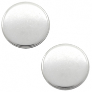 DQ European metal cabochons round 12mm Antique Silver (Nickel free)