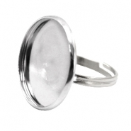 Rings metal for cabochon 20mm Antique Silver