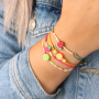 These bracelets with polymer beads will make you very happy